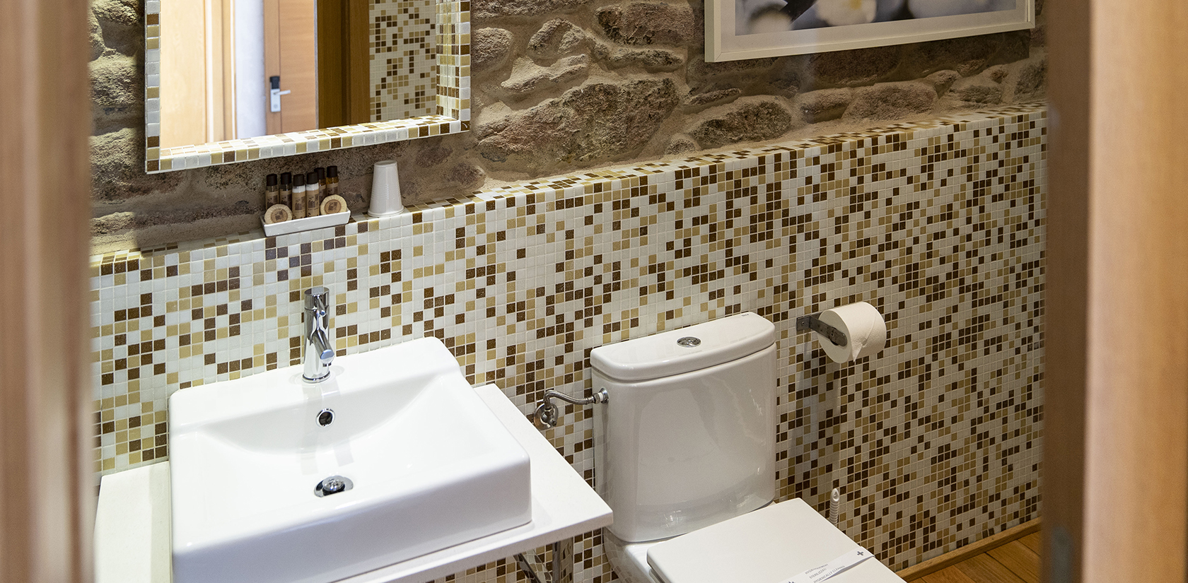 Habitación Cíes, detalle del baño
