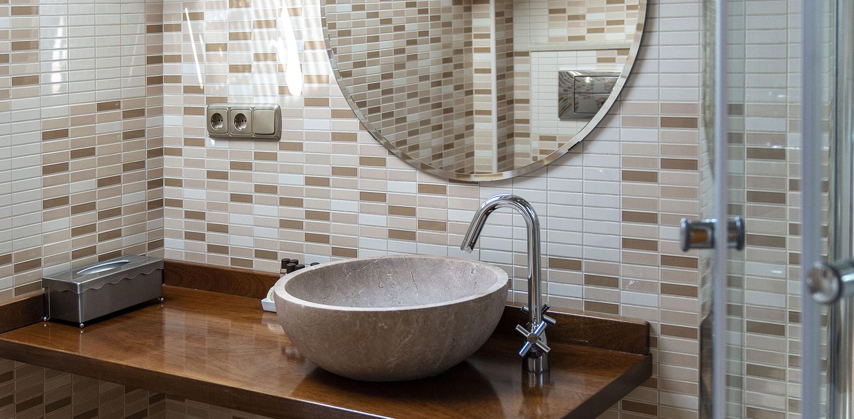 Habitación Briñas, detalle del baño
