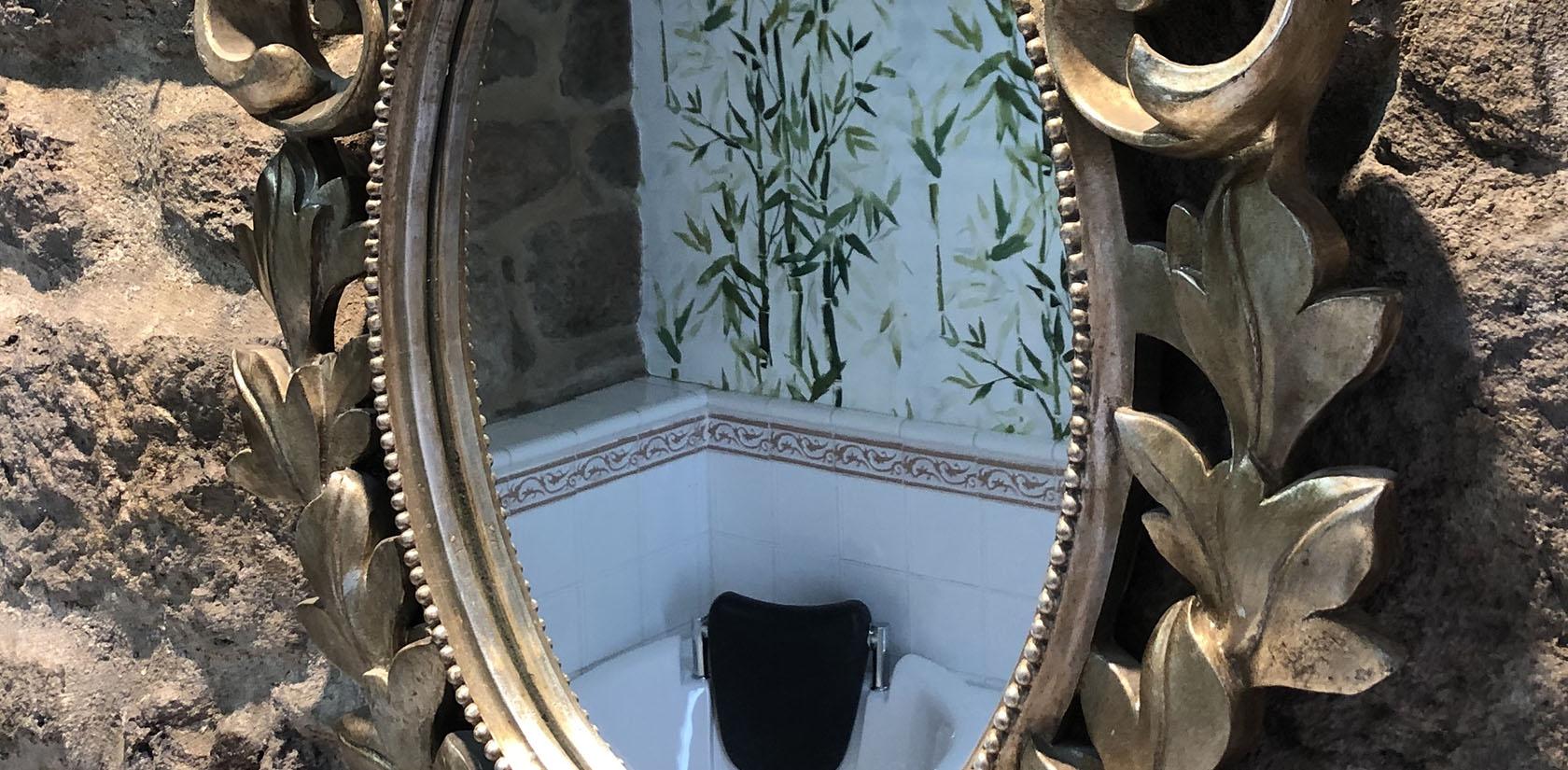 Habitación Cortegada, detalle del baño